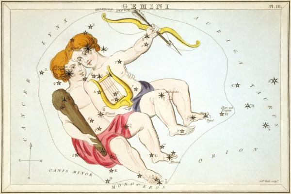 Imagen de la constelación de Géminis