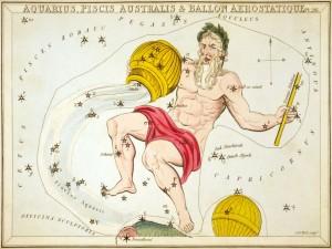 Postal: Imagen de la constelación de Acuario