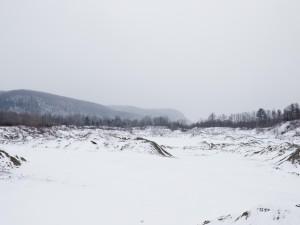 Terreno cubierto de nieve