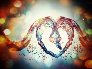 Un corazón de agua