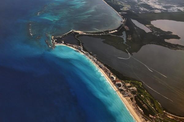 Vista aérea de Cancún (México)