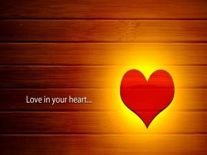 Postal: Amor en tu corazón