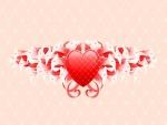 Corazón entre flores