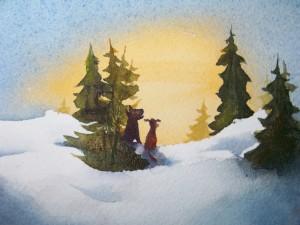 Perros sobre la nieve