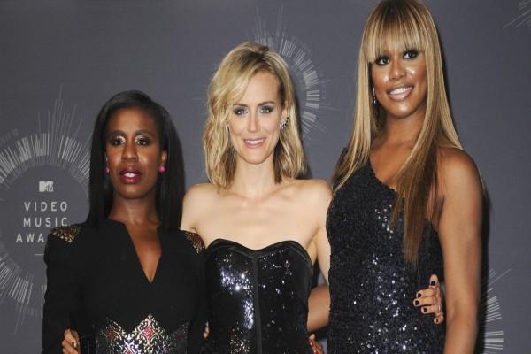 """Taylor Schilling, Laverne Cox y Uzo Aduba actrices de la serie """"Orange is the new Black"""""""