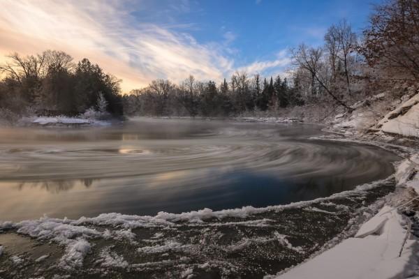 Río congelado