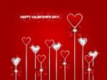 Corazones brillantes para el Día de San Valentín