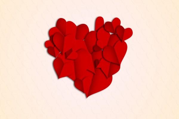Un montón de corazones