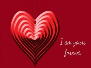 Postal: Soy tuyo para siempre