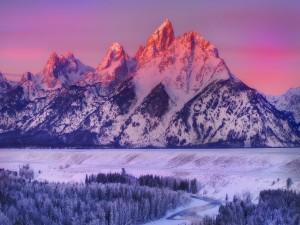 Invierno en el Parque Nacional de Grand Teton