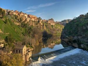 Postal: El río Tajo a su paso por Toledo