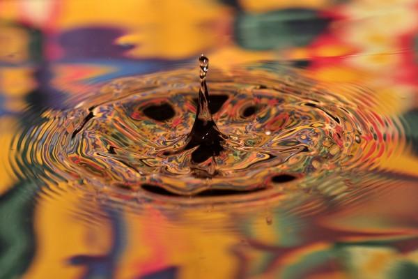 Salpicadura en el agua