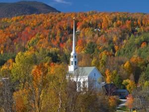 Postal: Iglesia en Stowe, Vermont