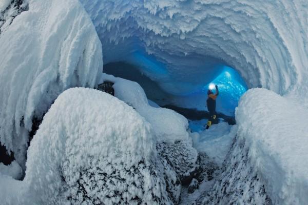 Increíble caverna helada