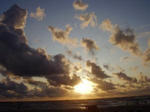 Postal: Puesta de sol en verano