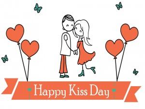 Postal: Feliz Día del Beso