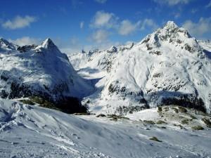 Postal: Montañas blancas