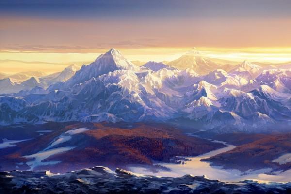 Bella imagen de un paisaje montañoso