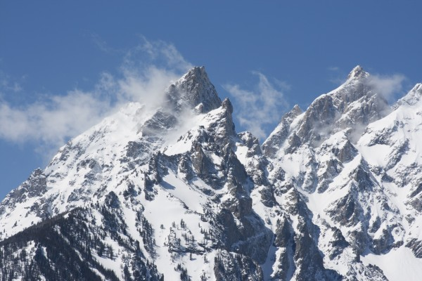 Grand Teton cubierto de nieve