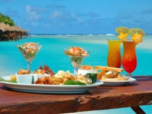 Almuerzo en una playa