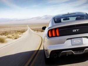 Un Ford Mustang 5 en la carretera