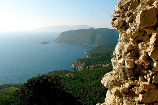 Vista de los acantilados y el mar