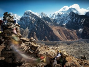 Montañas nevadas del Tibet