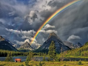 Arcoíris en las montañas