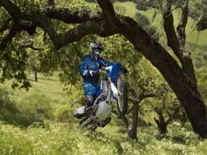 Motocroos en un campo verde