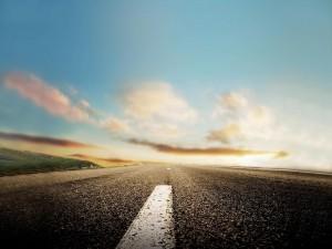 A ras de una carretera