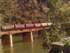 Postal: Tren de carga sobre el río Potomac