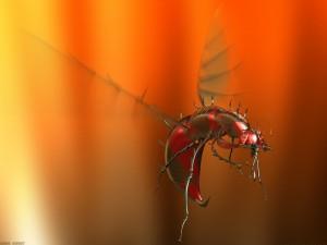 Postal: Gran insecto volador