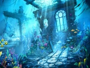 Postal: Fantasía bajo el agua