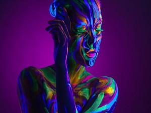 Body Painting en una chica
