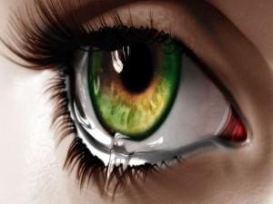 Lágrima en un ojo