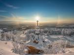 Un bello paisaje de invierno