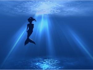 Silueta de una sirena