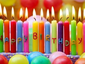Velas del feliz cumpleaños