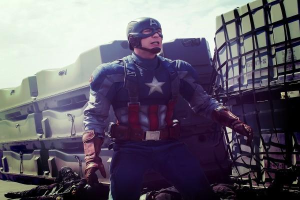 Capitán América en acción