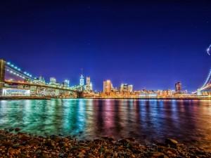Luces en la noche de Nueva York