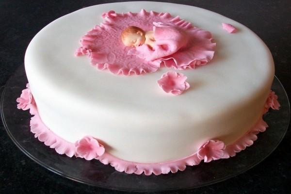 Vistosa presentación de un pastel