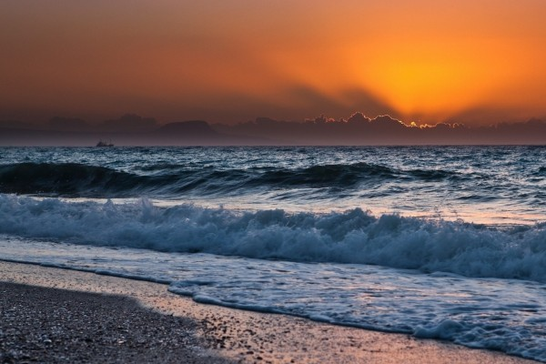 Admirando un bello amanecer