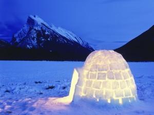 Un iglú iluminado