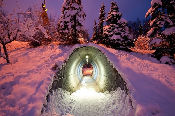 Túnel en la nieve