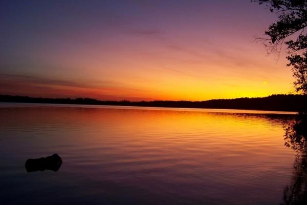 Los colores de la puesta del sol