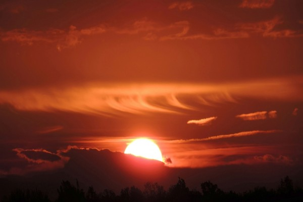 Magnífica puesta de sol