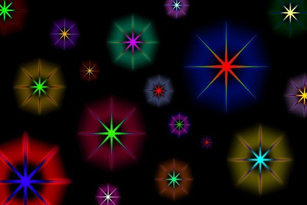 Estrellas coloridas