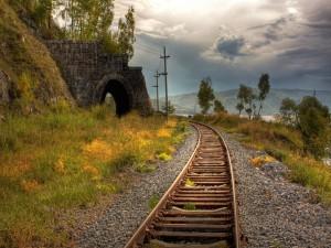 Túnel sobre una vía de tren