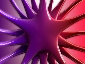 Postal: Estrella digital en dos colores