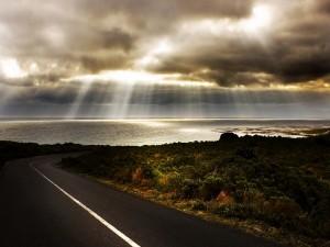 Carretera junto al océano